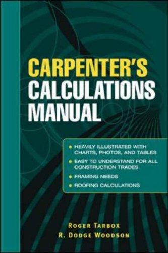 9780071437998: Carpenter's Calculations Manual