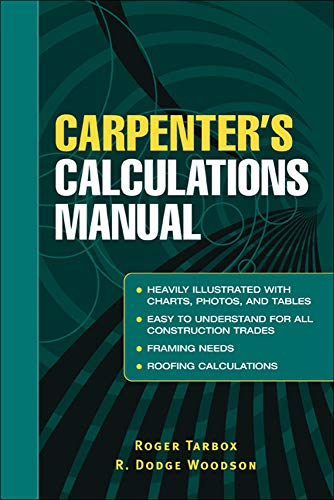 9780071437998: Carpenter's Calculations Manual