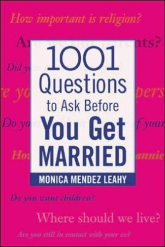 9780071438032: 1001 Questions to Ask Before You Get Married (Family & Relationships)