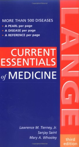 9780071438322: CURRENT Essentials of Medicine, Third Edition (Lange Current Essentials)