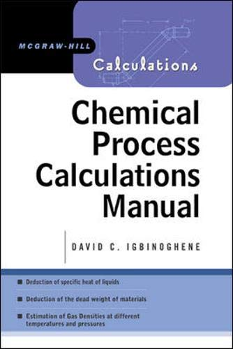 9780071438407: Chemical Process Calculations Manual