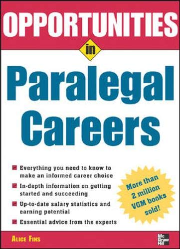 9780071438445: Opportunities in Paralegal Careers (Opportunities In...Series)