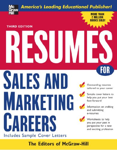 9780071438513: Resumes for Sales and Marketing Careers, Third edition (VGM Professional Resumes Series)