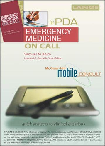 9780071438780: Emergency Medicine On Call PDA (Mobile Consult Series)