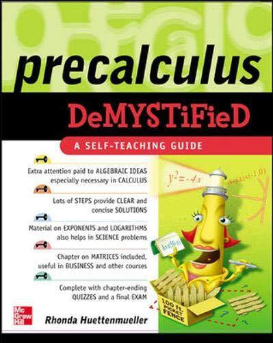 9780071439275: Pre-Calculus Demystified