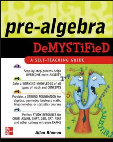 9780071439312: Pre-Algebra Demystified: A Self-teaching Guide