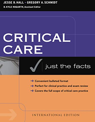 Critical Care: Just the Facts: Gregory A. Schmidt,Jesse B. Hall