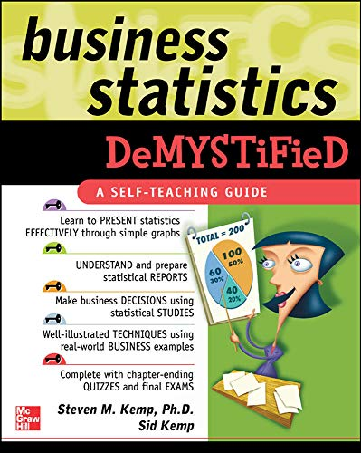 9780071440240: Business Statistics Demystified: A Self-teaching Guide