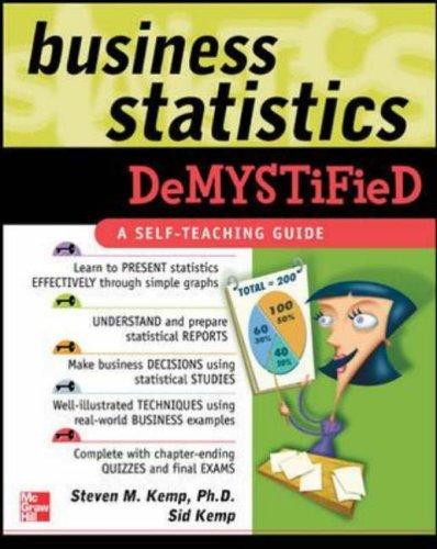 9780071440240: Business Statistics Demystified: A Self-teaching Guide