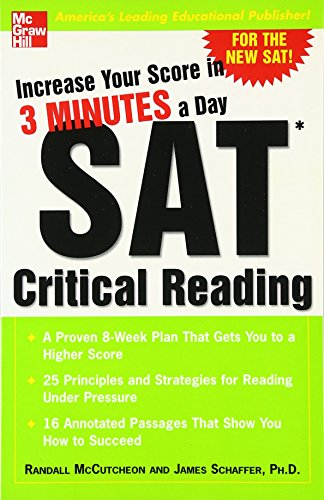 9780071440417: Increase Your Score in 3 Minutes a Day: SAT Critical Reading