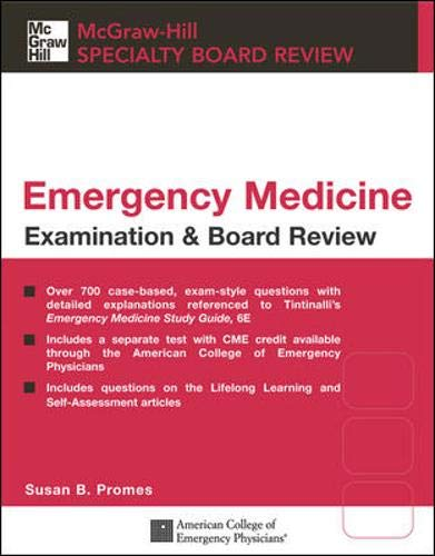 9780071440516: Tintinalli's Emergency Medicine Examination & Board Review (Mcgraw-hill Specialty Board Review)