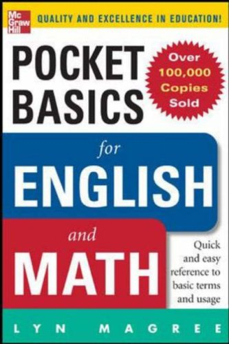 9780071440844: Pocket Basics for Math and English