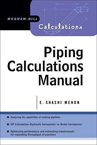 9780071440905: Piping Calculations Manual