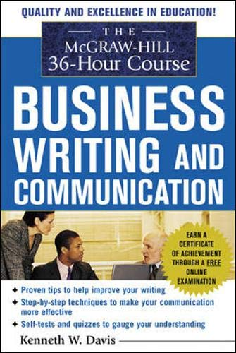 9780071441278: The McGraw-Hill 36-Hour Course in Business Writing and Communication: Manage Your Writing (McGraw-Hill 36-Hour Courses)