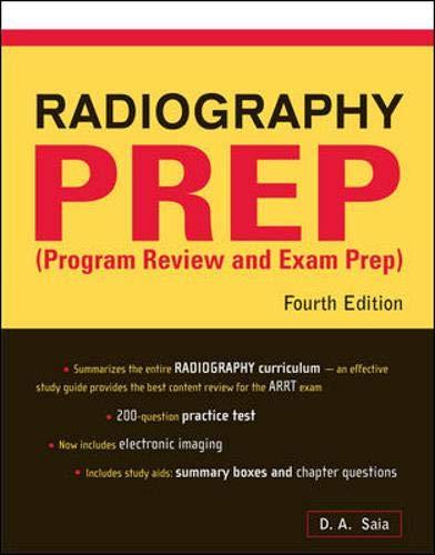9780071441650: Radiography PREP Program Review And Exam Preparation