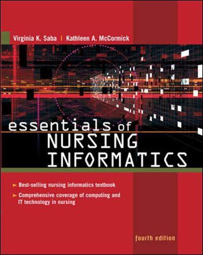 9780071441971: Essentials of Nursing Informatics (Saba, Essentials of Nursing Informatics)