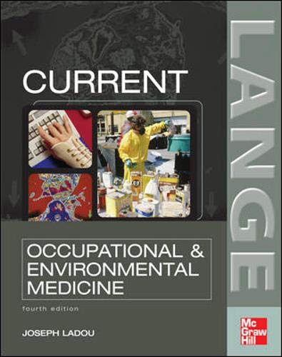 9780071443135: CURRENT Occupational & Environmental Medicine: Fourth Edition (Lange Medical Books)