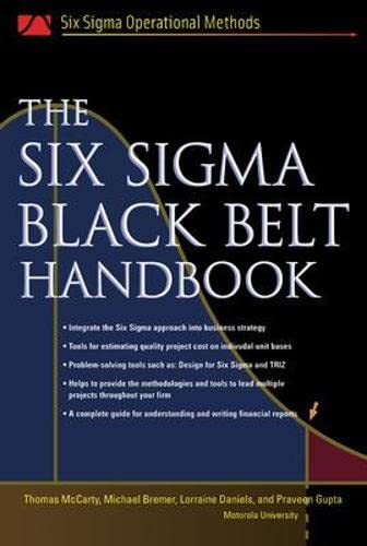9780071443296: The Six Sigma Black Belt Handbook (Six Sigma Operational Methods)