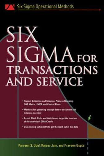 9780071443302: Six SIgma for Transactions and Service (Six SIGMA Operational Methods)