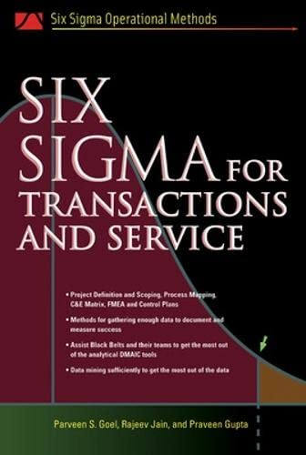 Six SIgma for Transactions and Service (Six: Rajesh K. Tyagi,