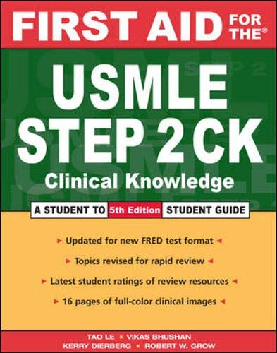 9780071443364: First Aid for the USMLE Step 2 CK