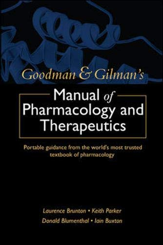 Goodman and Gilman's Manual of Pharmacology and: Brunton, Laurence, Blumenthal,