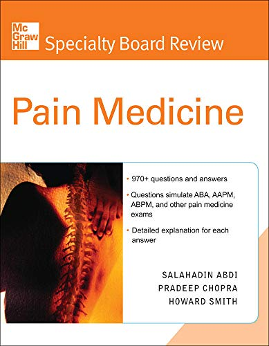 9780071443449: McGraw-Hill Specialty Board Review Pain Medicine