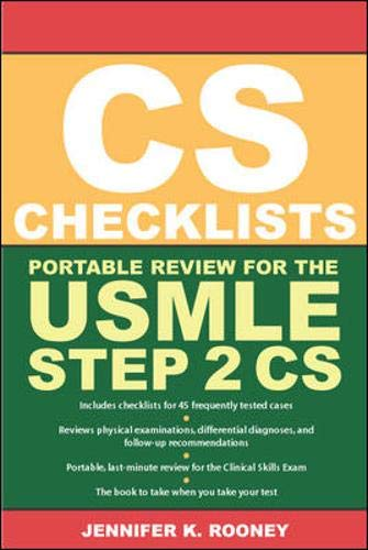 9780071445153: CS Checklists: Portable Review for the USMLE Step 2 CS (Clinical Skills Exam)