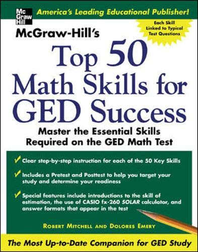 9780071445221: McGraw -Hill's Top 50 Math Skills For GED Success