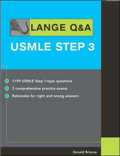 9780071445795: LANGE Q&A: USMLE Step 3 (Lange's Review for the USMLE Step 3)