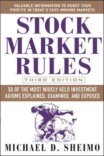 9780071445870: Stock Market Rules: 50 of the Most Widely Held Investment Axioms Explained, Examined, and Exposed
