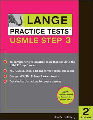 9780071446174: Lange Practice Tests for the USMLE Step 3 (LANGE Reviews USMLE)