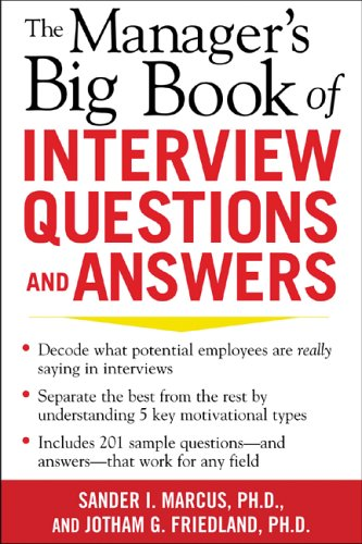 9780071446358: The Manager's Big Book of Interview Questions and Answers