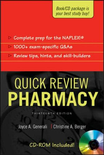9780071446747: Quick Review: Pharmacy, Thirteenth Edition (Appleton & Lange's Quick Review: Pharmacy, 1000 Questions & Answers (W/CD))
