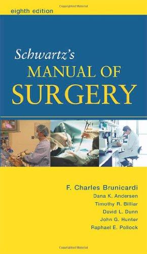 9780071446884: Schwartz's Manual of Surgery