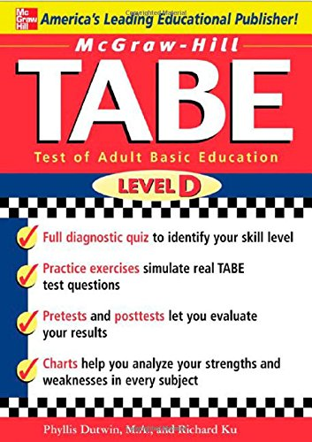 9780071446891: McGraw-Hill's TABE Level D: Test of Adult Basic Education: The First Step to Lifelong Success