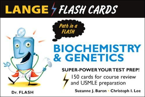 9780071447362: Lange Biochemistry and Genetics Flash Cards (Lange Flashcards)