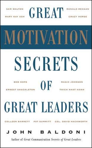 9780071447744: Great Motivation Secrets of Great Leaders