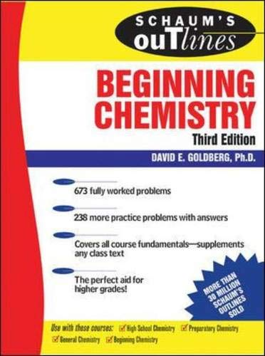 9780071447805: Schaum's Outline of Beginning Chemistry, 3rd ed (Schaum's Outline Series)