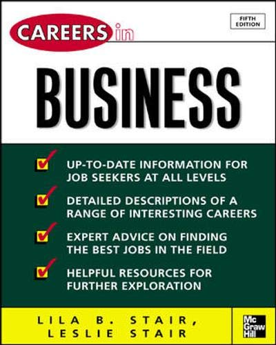 9780071448550: Careers in Business, 5/e (Careers in... Series)