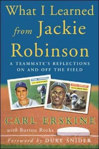What I learned from Jackie Robinson : a Teammate's Reflections on and Off the Field: Carl ...