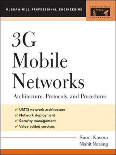 9780071451017: 3G Mobile Networks: Architecture, Protocols, and Procedures (Professional Engineering)