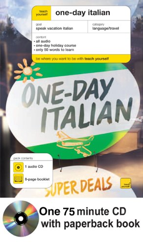 9780071451307: Teach Yourself One-Day Italian (Book + 1CD) (TY: Language Guides)
