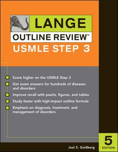 9780071451932: Lange Outline Review:  USMLE Step 3, Fifth Edition