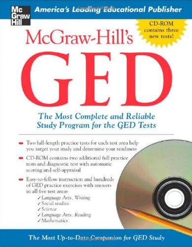 9780071451994: McGraw-Hill's GED W/ CD-ROM: The Most Complete and Reliable Study Program for the GED Tests [With CDROM]