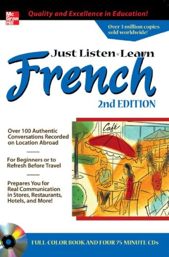 9780071452632: Just Listen 'n' Learn French, 2E Package (Book + 4CDs)