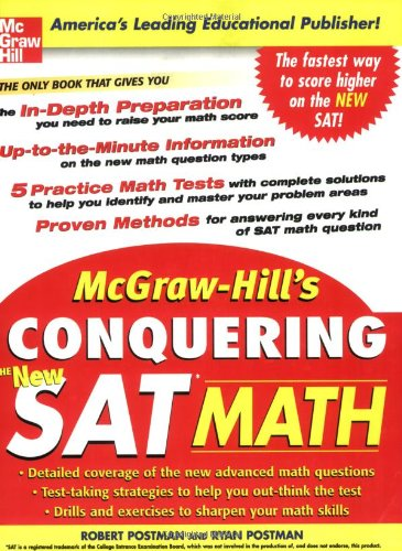 9780071452885: McGraw-Hill's Conquering the New SAT Math (McGraw-Hill's Conquering SAT Math)
