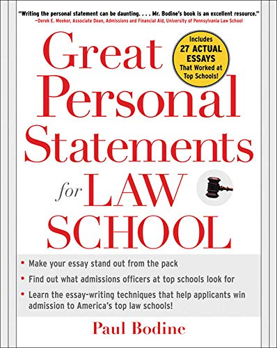 9780071453004: Great Personal Statements for Law School