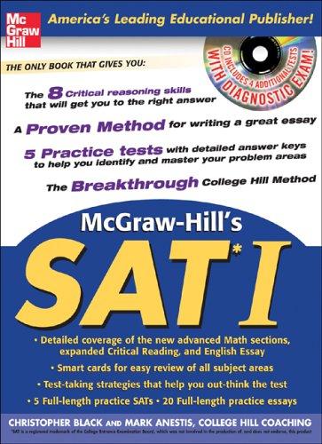9780071453219: McGraw Hill's SAT I (Book w/CD-ROM)