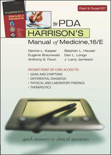 9780071453844: Harrison's Manual of Medicine for PDA (McGraw-Hill Mobile Consult)
